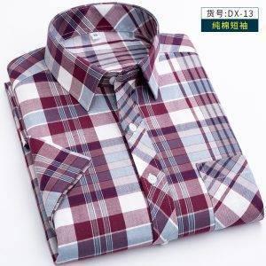 100% Cotton Summer Plaid Men Shirts