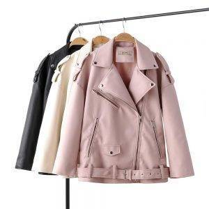 Motorcycle PU Leather Jacket